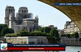 Se ofrecerá primera misa en Notre Dame desde el incendio en París
