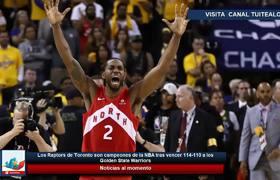 Los Raptors de Toronto son campeones de la NBA tras vencer 114-110