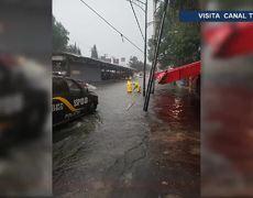 Fuerte lluvia azota el sur de la Ciudad de México inundaciones