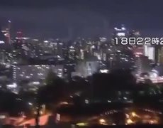 Terribles imágenes del momento del sismo en Japón