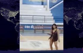 Maestra baila en lencería por el Día del Padre