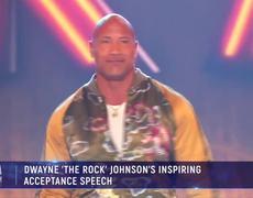 'The Rock' Inspiring Acceptance Speech