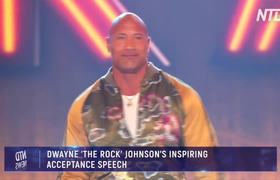 'The Rock' Inspiring Acceptance Speech