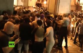 Georgia: Hundreds injured as violent Tbilisi protest continues into night