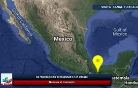 Se registra sismo de magnitud 5.1 en Oaxaca