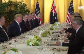 President Trump Participates in a Working Dinner with the Prime Minister of Australia