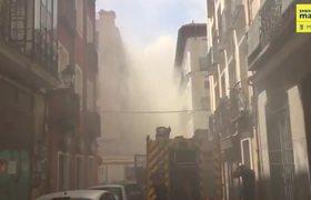 Extinguido el incendio de un edificio de Lavapiés