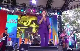 #GMA: Adam Lambert rocks out Central Park to Queen's 'I Want to Break Free'