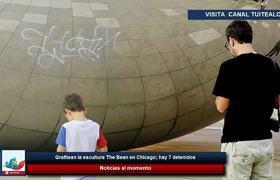 Grafitean la escultura The Bean en Chicago; hay 7 detenidos