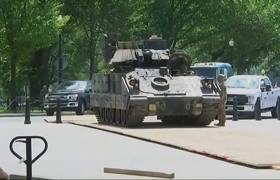 Army Tanks Moved to Lincoln Memorial for July 4th Celebrations