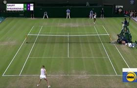 15-year-old tennis star notches 2nd-round win at Wimbledon