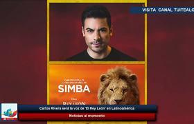 Carlos Rivera será la voz de 'El Rey León' en Latinoamérica