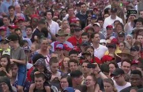 Trump praises military: 'The future belongs to us'