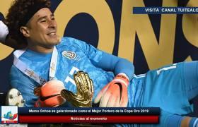 Memo Ochoa es galardonado como el Mejor Portero de la Copa Oro 2019