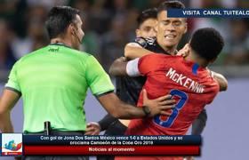 Con gol de Jona Dos Santos México vence 1-0 a Estados Unidos y es Campeón de la Copa Oro 2019