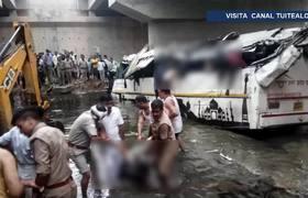 Accidente de autobús en la India deja 29 muertos