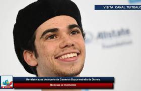 Revelan causa de muerte de Cameron Boyce estrella de Disney