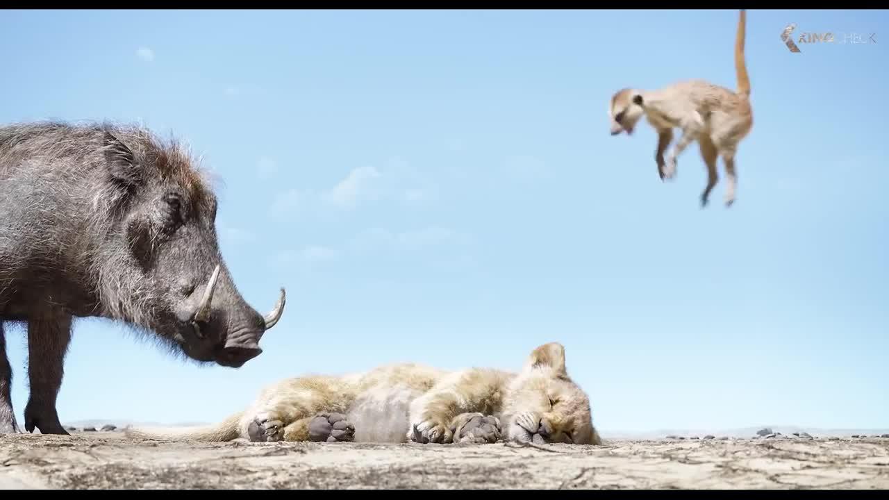 Pumbaa And Timon Meet Simba Scene The Lion King 2019