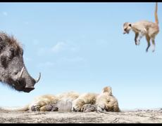 Pumbaa and Timon meet Simba Scene - THE LION KING (2019)