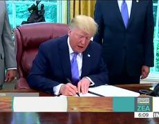 Trump reclama a China por no cumplir con compromiso de comprar los productos agrícolas