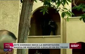 Inicia la deportación masiva de migrantes ilegales en EU: Trump