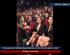 El feo gesto de la futbolista Megan Rapinoe a un niño fan que indignó en redes
