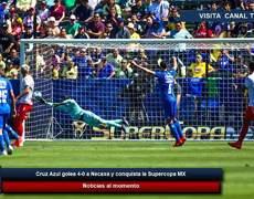 Cruz Azul golea 4-0 a Necaxa y conquista la Supercopa MX