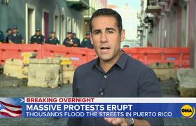 More protests erupt in Puerto Rico as thousands take to the streets