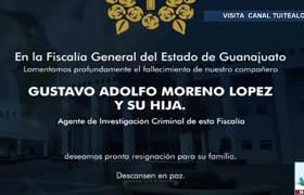 Investigan asesinato de agente ministerial y su hija en Guanajuato