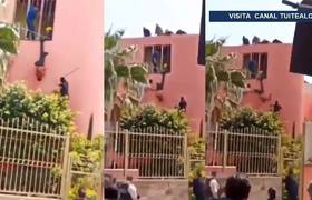 Indagan a policía que 'uso de piñata' a ladrón en Jalisco