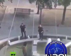 Policías detienen a hombre armado con machete en Madrid