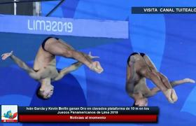 Iván García y Kevin Berlín ganan Oro en clavados plataforma de 10 m en Lima 2019