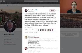 MARCELO EBRARD FIJA POSTURA ANTE LO OCURRIDO EN EL PASO, TEXAS