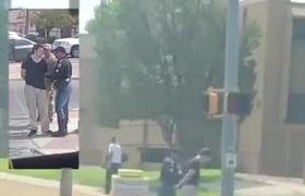 Momento del arresto del sospechoso del tiroteo en Texas