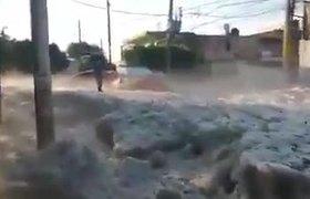 Cae granizo en Guadalajara, México