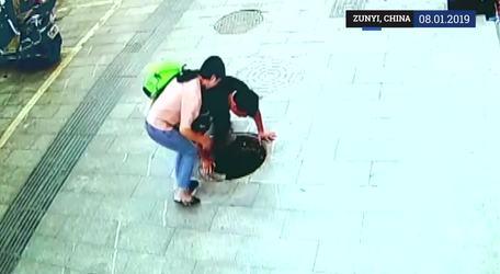 Niño caída en coladera que se encontraba abierta