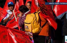 Desalojan a trabajadores del Senado tras bloqueo de campesinos