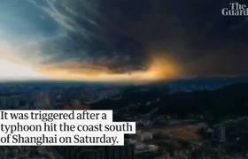 Tifón Lekima provoca deslizamientos de tierra en el este de China