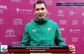 David Álvarez gana el Oro en la Mano Individual Frontón Masculino en Lima 2019
