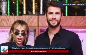 Miley Cyrus and Liam Hemsworth separate within 1 year of marriage