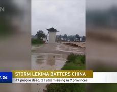 47 people dead, 21 still missing in 9 provinces following #typhoonLekima