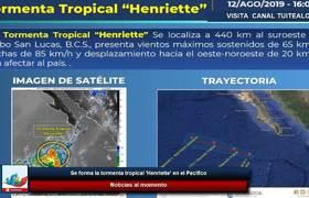 Se forma la tormenta tropical 'Henriette' en el Pacífico