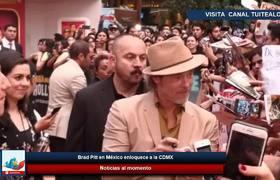 Brad Pitt en México enloquece a la CDMX