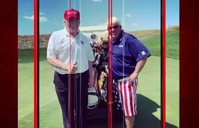 Donald Trump elogia a John Daly después de un juego de golf, 'Un tipo especial'