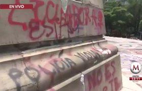 Tras vandalismo, 'blindan' el Ángel de la Independencia