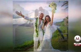 Dwayne Johnson y Lauren Hashian se casan en Hawái