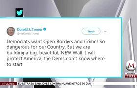 Trump presume que ya construye un nuevo muro 'grande y hermoso'