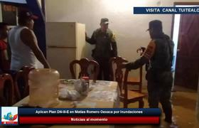 Aplican Plan DN-III-E en Matías Romero Oaxaca por inundaciones