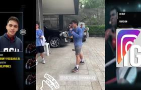 Manny PAcquiao Jr Shadow Boxing Like His Dad