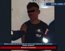 Salvan a sujeto de ser linchado por robo a casa habitación en Otzolotepec